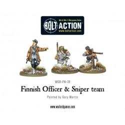 Finnish Officer & Sniper team
