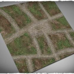 Wargames terrain mat – Cobblestone Streets PVC 4x4