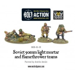 Soviet Army 50mm light mortar and Flamethrower teams
