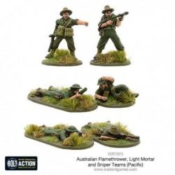 Australian Flamethrower, Light mortar and Sniper teams