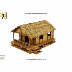 Woven Palm Style Village House - Low