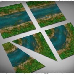 Terrain tiles set – clear river Mousepad 12 pc Set