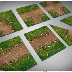 Terrain tiles set – dirt path 12 pc set