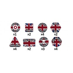 Team Yankee British Token Set