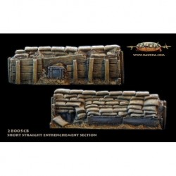 28mm Sandbag entrenchment 8.5cm straight