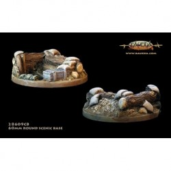Forest trench theme 60mm round scenic bases with 25mm   round hole