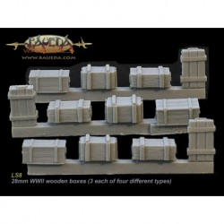 28mm WWII wooden boxes