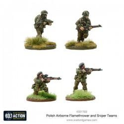 Polish Airborne flamethrower and sniper teams