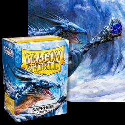 Dragon Shield : Sapphire Matte 100 Standard Size