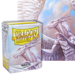 Dragon Shield : White Matte 100 Standard Size