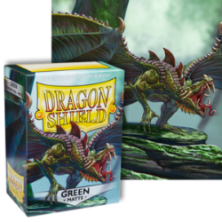 Dragon Shield : Green Matte 100 Standard Size