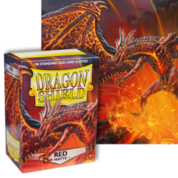 Dragon Shield : Red Matte 100 Standard Size