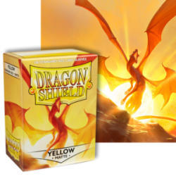 Dragon Shield : Yellow Matte 100 Standard Size