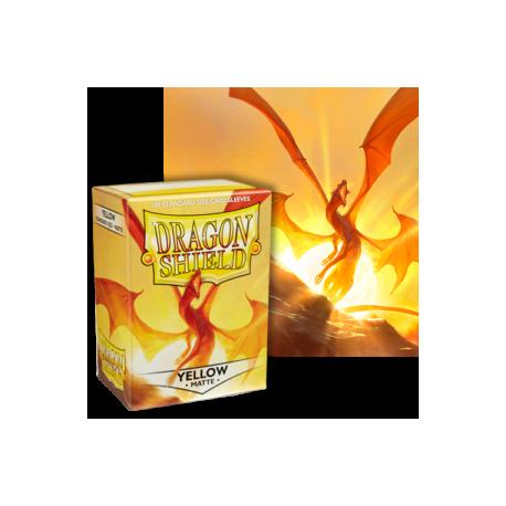 Dragon Shield : Yellow Matte 100 Standard Size