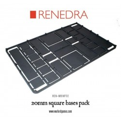 20mm square bases sprue pack