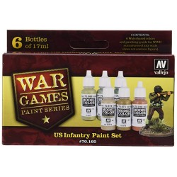 Vallejo Us Paint Set, 17ml (6 Pack)