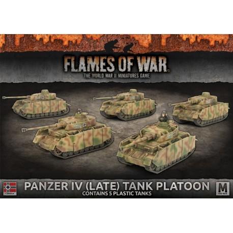 Panzer IV (Late) Tank Platoon (Plastic)