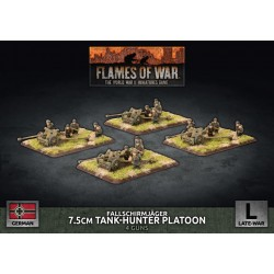Fallschirmjager 7.5cm Tank Hunter Platoon (Plastic)