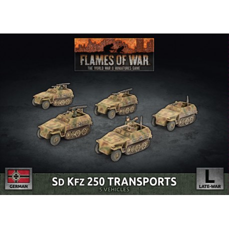 SD KFZ 250 Reconnaissance (MG and 3.7cm) Platoon (Plastic)