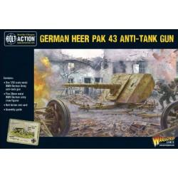 German Heer Pak 43 anti-tank gun