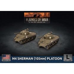M4 Sherman (105mm) Assault Gun Platoon (Plastic)