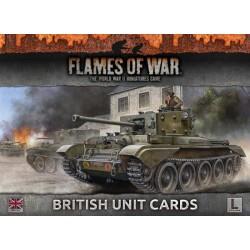 British Unit Cards: Late War
