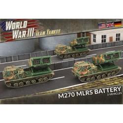 M270 MLRS Rocket Launcher Battery