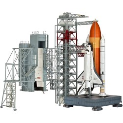 Launch Tower & Space Shuttle with Booster Rockets 1/144