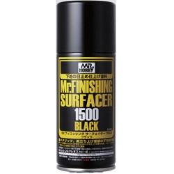 MR. FINISHING SURFACER 1500 Black Spray (Mr Hobby)