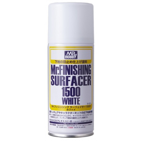 Mr.FINISHING SURFACER 1500 White Spray (Mr. Hobby)