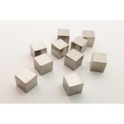 Silver Metal Cubes (set of 10)