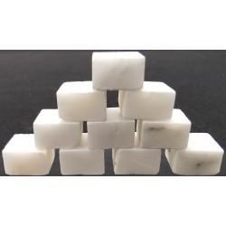 Marble Tiles - White (set of 10)
