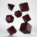 Runic Dice Set Black and Red